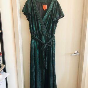 ModCloth iridescent faux wrap dress with belt